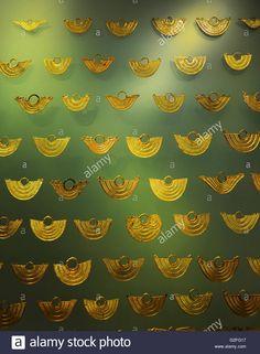 Bogota, Museo del Oro, Pre-Columbian gold artefacts Stock Photo