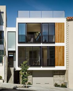 The residence is located in Cow Hollow neighborhood of San Francisco designed by Michael Hennessey Architecture completed in 2014  #designandlive