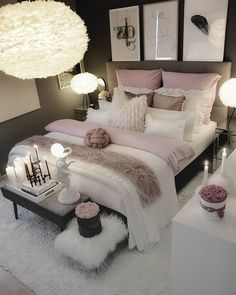 Bedroom decor - Elegant Rustic Bedroom Ideas That Will Give Your Rustic Bedroom An Uplift elegantbedroom bedroomdesign bedroomideas ~ Beautiful House Girl Bedroom Designs, Room Ideas Bedroom, Master Bedroom Design, Home Decor Bedroom, Living Room Decor, Bed Room, Bedroom Furniture, Master Suite, Budget Bedroom
