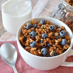 This grain-free granola has only nuts, seeds, and honey, no grains. Baked to perfection, this is a very crunchy granola that refuses to get soggy in milk.