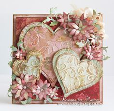 Designs by Marisa: Tonic Studios - Traditional Hearts Valentine's Day. Vintage Wedding Cards, Wedding Cards Handmade, Greeting Cards Handmade, Vintage Cards, Valentine Love Cards, Valentine Crafts, Valentines, Engagement Cards, Wedding Anniversary Cards