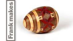Wood Turned Easter Egg