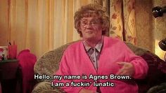 A badge situation. Mrs Browns Boys, Hysterically Funny, Boy Gif, Irish Quotes, Lol, Fictional Characters, Badge, Gifs, Fantasy Characters