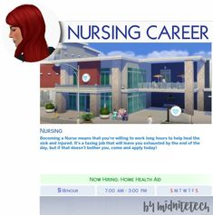 😷NURSING CAREER😷 Hi everyone! With the kind permission of MissyHissy, I've converted her Nursing Career to The Sims You can use MC Command Center to promote your Sim (From a computer in-game, click Cheats>Career>Promote), OR if you have UI Cheats. Sims 4 Mods, Sims 4 Game Mods, Les Sims 4 Pc, Sims Cc, Star Citizen, Sims 4 Traits, Muebles Sims 4 Cc, The Sims 4 Packs, Sims 4 Black Hair