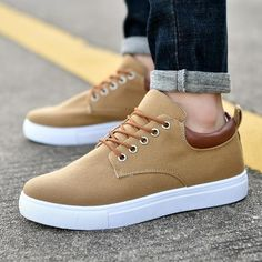 Merkmak Canvas Shoes Men Casual Shoes 2018 Spring Autumn Sneakers Lace Up Men Comfortable Shoes Big Size 47 Handmade Moccasins Outfit Accessories From Touchy Style. Best Casual Shoes, Trendy Shoes, Men Casual, Lace Up Shoes, Men's Shoes, Dress Shoes, Boy Shoes, Ladies Shoes, Shoes Style