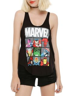 Marvel Heroes Boxes Girls Tank Top | Hot Topic