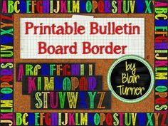 One Lesson at a Time: Free Printable Bulletin Board Border Bulletin Board Borders, Bulletin Board Letters, Bulletin Board Display, Classroom Bulletin Boards, Chalkboard Classroom, School Displays, Classroom Displays, Classroom Themes, Teacher Education