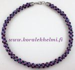Necklace made of Toho seed beads and Czech Fire polished beads. Kumihimo is fun. Seed Bead Jewelry, Seed Beads, Beaded Jewelry, Beaded Necklace, Beaded Bracelets, Jewellery, Crafts, Tutorials, Fire