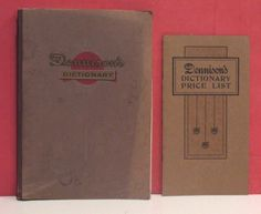 1906 Dennison Manufacturing Company Dictionary/Catalog w/Price List