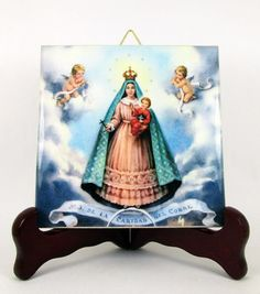 Our Lady of Charity of El Core #Catholic #icon on ceramic tile https://www.etsy.com/it/listing/238020857/our-lady-of-charity-of-el-cobre-catholic