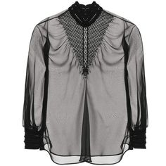 Fendi Silk Blouse (€1.410) ❤ liked on Polyvore featuring tops, blouses, silk top, fendi and silk blouses
