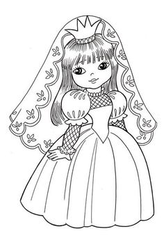 VK is the largest European social network with more than 100 million active users. Coloring Pages For Girls, Coloring For Kids, Colouring Pages, Coloring Books, Drawing Lessons For Kids, Printable Coloring Sheets, Princess Coloring, Bride Dolls, Baby Girl Crochet