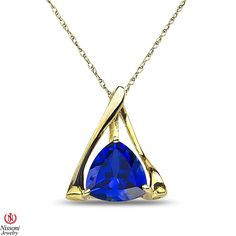 Ebay NissoniJewelry presents - Ladies Created Sapphire Pendant and chain in 10k Yellow Gold    Model Number:P7825SM-Y0CSA    http://www.ebay.com/itm/Ladies-Created-Sapphire-Pendant-and-chain-in-10k-Yellow-Gold/221877919636