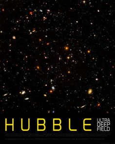 Hubble ultra deep field poster for intergalactic classroom inspiration