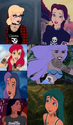 Punk Disney princesses