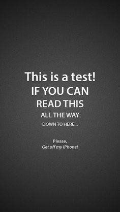PIN IT if you can read this... :p Best funny iPhone wallpapers