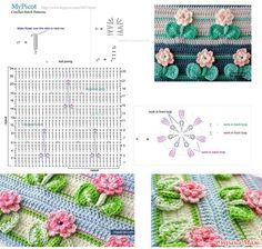 Узоры крючком от MyPicot +ссылка на МК. (пост закрыт) Crochet Leaf Patterns, Doily Patterns, Crochet Chart, Crochet Motif, Stitch Patterns, Knitting Patterns, Crochet Sunflower, Crochet Leaves, Crochet Flowers