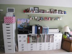 Lots of great ideas for craft rom storage.