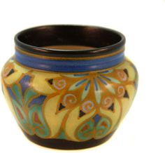 Gouda Pottery   Gouda Pottery Bowl - Signed and Marked