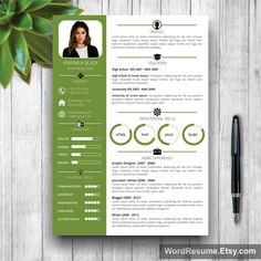 resume template with photo cover letter cv by wordresume - Cover Letter And Resume Format