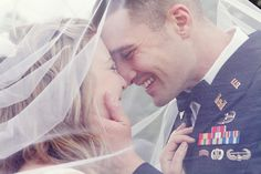 Groom West Point Army Officer - Military wedding- Vintage Styled Wedding- Bridal veil