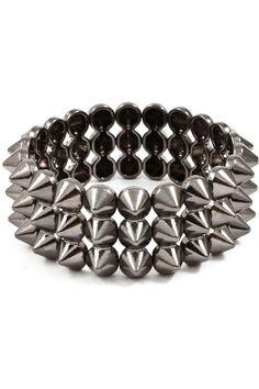 New Spiked Bracelets Fashion Urban Spike Stretch Womens Girls Punk Jewelry Trend | eBay