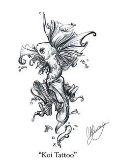 Koi Fish Tattoo..... Beautiful!!