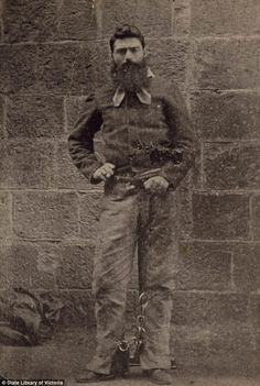 """Edward """"Ned"""" Kelly (June 1854 or 1855 – 11 November was an Irish Australian bushranger. Kelly's legacy is controversial; some consider him to be a murderous villain, while others view him as a folk hero and Australia's equivalent of Robin Hood. Ned Kelly, Old Photos, Vintage Photos, Australian Bush, Australian People, Melbourne, Sydney, The Past, Famous People"""