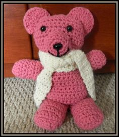 Beginner Crochet Patterns: Super Easy Crochet Teddy Bear Pattern crocheted-toys