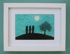 #Sister #Picture #Framed: Sister #Gift, #Friend Picture, Friend Gift, #Moon #Art #Print £15.00