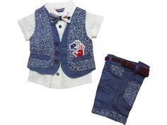 3027 Wholesale leaf embroidered denim gilet with shirt & short set for boy children clothes month). Wholesale Baby Clothes, Short Set, Children Clothes, Baby Dress, Kids Outfits, 18th, Amp, Denim, Boys