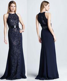 Madrinhas de casamento: Vestido para madrinha noite azul marinho