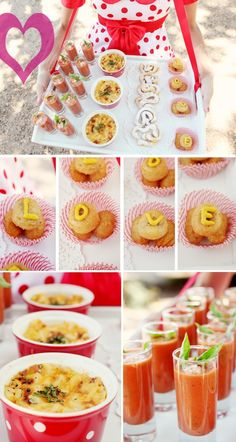 Circus themed wedding food! Don't forget the shoulder-strapped-tray!