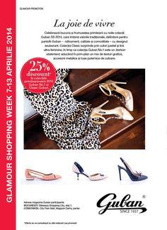 Catalog Guban Incaltaminte Primavara-Vara 2014 colectii de pantofi, saboti, sandale, botine si mocasini ce avem sa le gasim in magazinele Guban Romania!