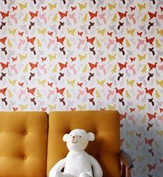 Papier peint vintage r tro orla kiely chambre de b b - Papier peint vintage enfant ...