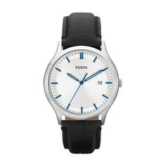 106c8e82d129 Fossil FS4671 Ansel Men s White Dial Black Leather Analog Watch Retails for   95