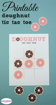This printable doughnut tic tac toe game is adorable! Kids of all ages (and adults) can play this classic game with a free printable board and donut pieces to cut out.