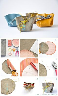 love these adorable coin purses. simple to make and perfect for small gifts. (via drawstring coin purse)