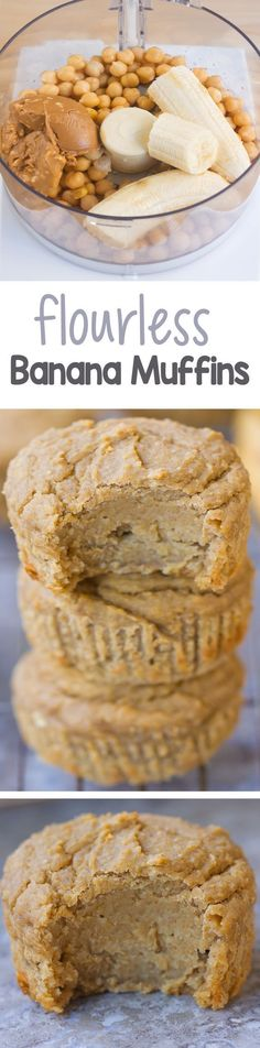 Simple vegan flourless muffins, less than 120 calories each… And so easy to make in the blender! /choccoveredkt/ http://chocolatecoveredkatie.com/