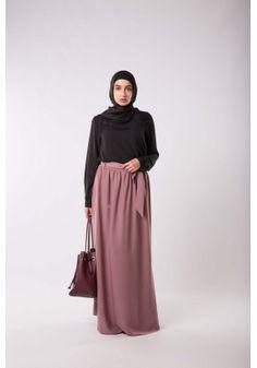 mauve Jupe mode pour Mastoura pudique voilées longue très islamique musulmanes élançées femmes 6txrqt