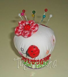 Upcycled pincushion from a fabric softener/detergent cap........tutorial