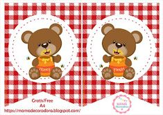 Mamá Decoradora: Kit Imprimible Oso Picnic Character, Digital Invitations, Invitation Cards, Cute Stuff, Lettering