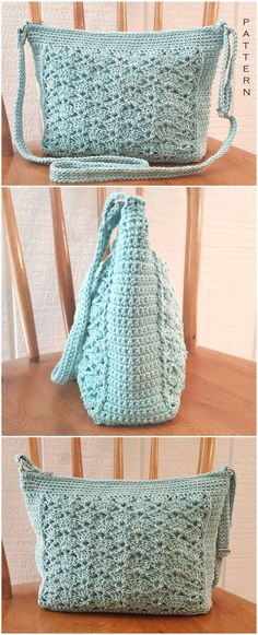 Crochet Bag Pattern - Easy Crochet Patterns - Find very interesting and beautiful free crochet bag patterns here including crochet purses, totes, handbags, and much more fun crochet bag patterns. All of them are so easy yet look so gorgeous. Crochet Simple, Free Crochet Bag, Crochet Market Bag, Crochet Tote, Crochet Handbags, Crochet Purses, Easy Crochet Patterns, Crochet Ideas, Art Au Crochet