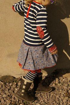 robe marin/coton