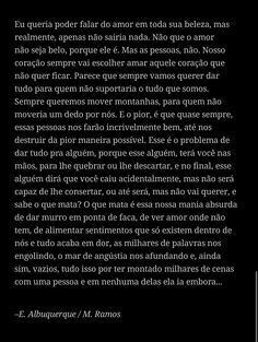 """Texto """"u m"""" do livro """"um texto, uma vida"""" que se encontra no Wattpad. Let There Be Love, Just Love, Love Phrases, Aesthetic Songs, Instagram Blog, Just Friends, My Heart Is Breaking, Best Part Of Me, Relationship Quotes"""