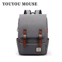 $21.85 (Buy here: https://alitems.com/g/1e8d114494ebda23ff8b16525dc3e8/?i=5&ulp=https%3A%2F%2Fwww.aliexpress.com%2Fitem%2FRU-BR-Fashion-Women-Bags-Canvas-Backpack-Men-Oxford-Travel-Outdoor-Backpacks-Retro-Casual-Backpacks-School%2F32711572717.html ) YOUYOU MOUSE Fashion Women Canvas Backpack Men Oxford Travel Backpacks Retro Casual Backpacks School Bags For Teenagers for just $21.85