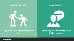 Fake nice people are worse than those who're openly unpleasant.