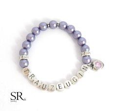 Accessoires - Armband Trauzeugin fragen Geschenk Hochzeit Perlen Herz Flügel lila - ein Designerstück von sweetrosy bei DaWanda