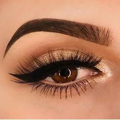 Delineado e brilho! Amei esse olho! gostaram? Compartilhe o look de vocês do final de semana no #maquiagemx