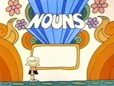 School House Rock - A Noun is a Person, Place, or Thing (Grammar Rock) Also other videos for different parts of speech Teaching Grammar, Teaching Language Arts, Classroom Language, English Language Arts, Teaching Writing, Teaching English, Teaching Tools, Teaching Ideas, Grammar Lessons